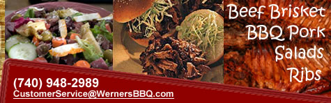 Beef Brisket, BBQ Pork, Salads, and Ribs at Werners BBQ