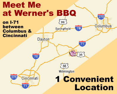 Werner's BBQ on I-71 Between Columbus and Cincinnati Ohio