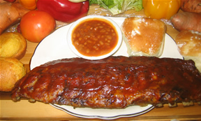 Barbecue Rib Dinner
